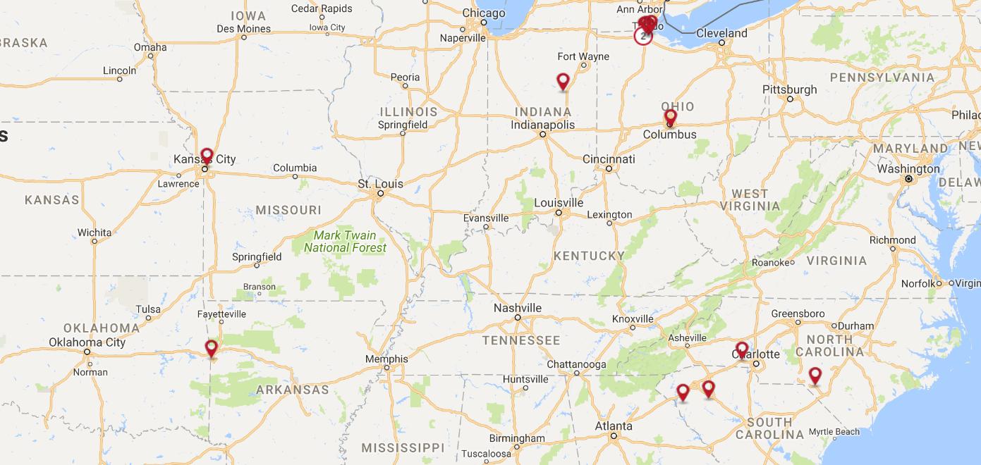 Spartan Locations Map