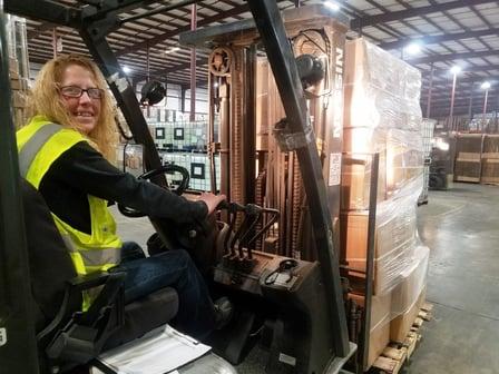 Spartans Barb Neubig - Forklift Driver 5-1-18