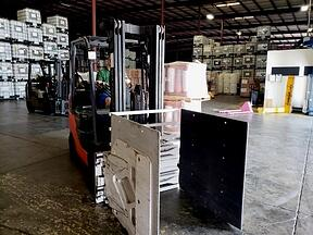clamp forklift operator